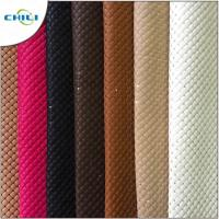 China Thicker Padded Faux Leather Fabric Multi Layers Anti Mildew Elastic Mesh wholesale