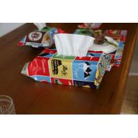 China Cartoon Printed Decorative Tissue Box For Living Room Customized Color wholesale