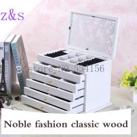 China white Clovers space Wood Jewelry Box Storage Gift Display Box Jewelry Lagre Gift Box Jewelry Boxes wooden Packaging cas on sale