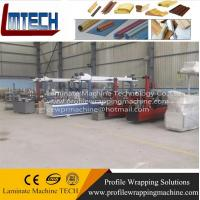 PVC suspended ceiling panel profile wrapping laminating machine