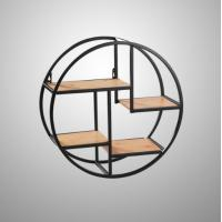 China Wall Mounted Iron Shelf Round Floating Shelf Wall Storage Holder and Rack Shelf for Pantry Living Room Bedroom Kitchen wholesale