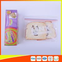 China Food Grade LDPE Double Zipper Plastic Zip Lock Bags For Food , Eco Friendly Sandwich Bags on sale