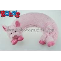 China Microwave Heated Plush Pig Neck Pillow Filled with Flaxseeds and Larender wholesale