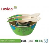 Buy cheap Reusable Melamine Salad Bowl Set Environmental Friendly With Serving Fork Spoon from wholesalers