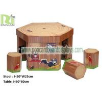 China Regular Hexagon Cartoon Cardboard Desk and Chair with Maze for Children wholesale