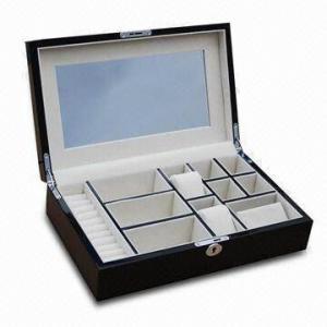 China Wooden Jewelry Gift Box, High-glossy Finishing Exterior And Luxury Pandora Jewelry Box wholesale