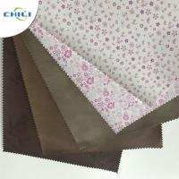 China Embossed  PU Leather Fabric Advanced Technology Thick  Polyestermaterial wholesale