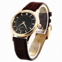 China Automatic Chronograph Watch, Japan Movement, Genuine Leather Strap, Small Chronograph Dial wholesale