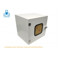 China Embedded Door Powder Coated Steel Static Pass Box For Clean Room wholesale