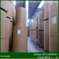 China 180gsm one side white coated duplex board paper with gray back wholesale