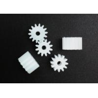 China Plastic High Precision Gears 10mm Printer White Small Spur Gears Straight Teeth wholesale