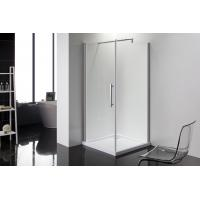 Square 6m Door Thickness Shower Enclosures Bathroom Shower Stalls Stripe Glass Manufactures