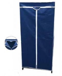 China Blue 1.6m Non Woven Wardrobe , Free Standing Clothes Closet wholesale