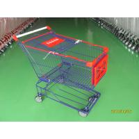 China Supermaket store 150L asian style Wire Shopping Trolley carts with wheels wholesale