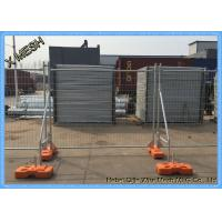 China hot dipped galvanized 2.1mx2.4m Temporary fence with concrete filled plastic feet wholesale