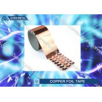 China Die Cutting Copper insulation tape Roll FOR Electromagnetic Shielding on sale
