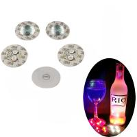 China Bar Products Round LED Cup Stickers Dia 6cm PP Logo Customized wholesale