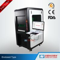 China 100W Fully Enclosed Fiber Laser Marking Machine for Printing Logos on Stainless Steel Aluminum wholesale