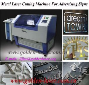 China YAG laser metal cutting machine small wholesale