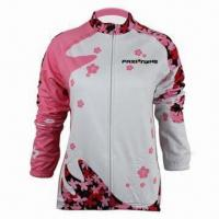China Bike Shirt, Made of 100% Moisture-wicking Functional Fabric with Sublimation Print, 140gsm Weight wholesale