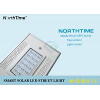 China 1900LM 18V 30W LED Solar Street Lights With High Brightness Bridgelux LED Chips wholesale