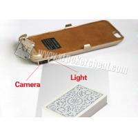 China Iphone 6 Golden Plastic Charger Case Poker Scanner With Micro Camera wholesale