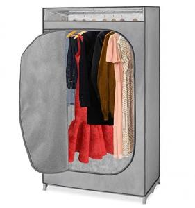 China Home Portable Non Woven Wardrobe With Hanging Rack wholesale