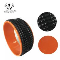 China Portable Massage Foam Roller ABS Balance Yoga Wheel Soft TPE Material Surface wholesale