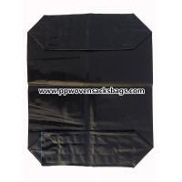 China Black PE Plastic Valve Sealed Bags for Packing Activated Carbon / 25kg Valve PE Sacks wholesale