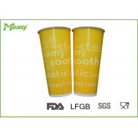 China Yellow Orange Color Printed Cold Drink insulated paper cups Shining And Beautiful on sale