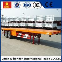 Buy cheap Double Axles 20ft 40ft Flat Bed Semi Trailer 2 axles container semi truck from wholesalers