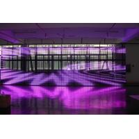 Indoor P18 Transparent Glass LED Screen Stage Background With 6944 Pixel Density