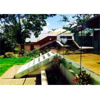 China Side Mounted Glass Balustrade , Standoff Glass Railing System For Outdoor on sale
