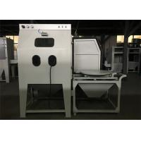 China Dust Free Wet Blasting Cabinet Single Phase With Cart / Turntable 8mm Nozzle wholesale
