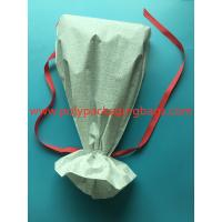 China White CPE Drawstring Plastic Bags For New Year Gift / Women 'S Personal Items wholesale
