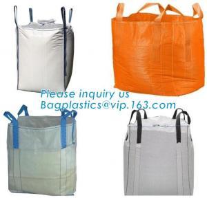 China U-type competitive price 100% PP breathable bulk big woven fibc bags mesh jumbo bag for firewood potato, BAGPLASTICS wholesale