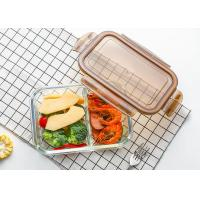 China Storage Glass Food Container With Lid / Glass Crisper / Microwave Glass Bowl wholesale