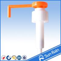 Orange & white long nozzle plastic 28mm lotion pump for medical use