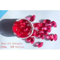 China Rose Oil Softgel,Health Food/Contract Manufacturing,Red Liquid Softgel wholesale