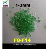 China SGS Approved Recycled Crushed Glass Abrasive Blasting Media For Ship Hull Blast Cleaning on sale