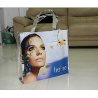 China Full Color Printing Non-woven Shopping Bag , Recycled Plastic Shopping Bags For Suit / Shoes / Cosmetic wholesale