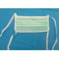 China Green 3 Ply Non Woven Face Mask , Sterile Disposable Medical Face Masks wholesale