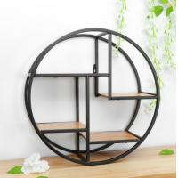 Buy cheap Wall Mounted Iron Shelf Round Floating Shelf Wall Storage Holder and Rack Shelf from wholesalers