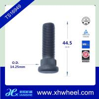 China 44.5mm Length Chrome Auto Wheel Studs Knurl , 14.25mm Dia M12 - 1.5 * 33 wholesale