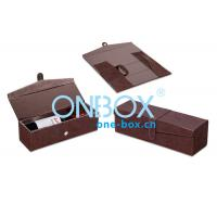 China Foldable Leather Wine Packaging Boxes Display With Magnet Closure wholesale