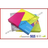 China Square Grey Board Rigid Gift Boxes , OEM Offset Printed Gift Packaging Boxes with Lid and Base on sale