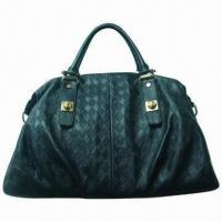 China Genuine Cow Leather Handbag with Quality Metal Parts, High-end in Classic Design on sale