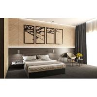 China Cheap Apartment Wooden Hotel Guest Room Furniture With MDF Panel wholesale