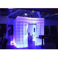 China Romantic Inflatable Photo Booth LED Light 2.4m Color Changed With Blower wholesale
