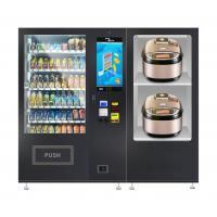 Quality Durable Snack And Drink Vending Machine With Microwave Oven LED Lighting for sale